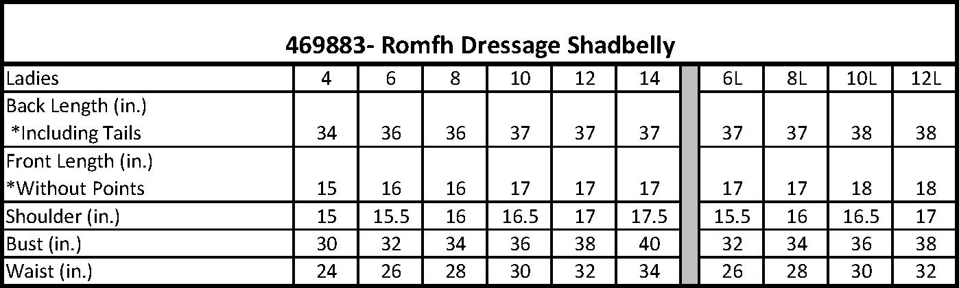 469883- Romfh Dressage Shadbelly