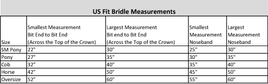 Bridle Sizing- No Bradoon