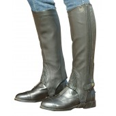 Ovation® Stretch Ribbed Top Grain Half Chaps - Ladies'
