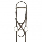 Ovation® Elite Collection- Fancy Raised Traditional Crown Padded Figure-8 Bridle with BioGrip™ Rubber Reins