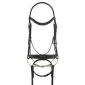Ovation® Natalia Crank Flash Dressage Bridle
