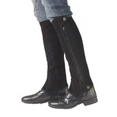 Ovation® Precision Fit Suede Half Chaps- Black