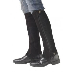 Ovation® Precision Fit Suede Half Chaps- Black