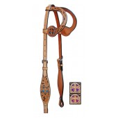 Double Ear Headstall St. Christopher