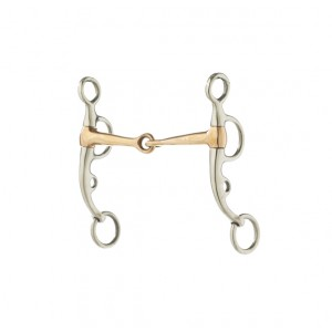 Stainless Steel Coppr Snaffle Argentine Bit