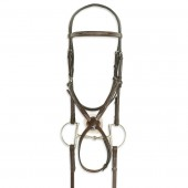 Ovation® Classic Collection- Figure 8 Comfort Crown Bridle with BioGrip™ Rubber Reins