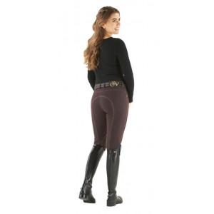 Ovation® Euro Melange Zip Front Knee Patch Breeches - Ladies'