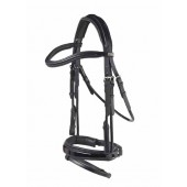 Carl Hester by PDS® Rolled Snaffle Bridle with Flash and Rubber Lined Snaffle Reins