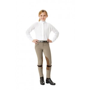 Ovation® EuroWeave™ Front Zip Knee Patch Breech- Child's