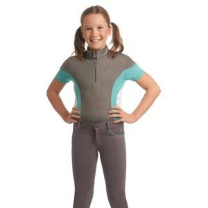 Ovation® Child's Quarter Zip Sport Shirt-  Short Sleeve