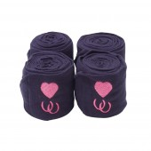 Centaur® Embroidered Hearts & Horseshoes Polo Wraps