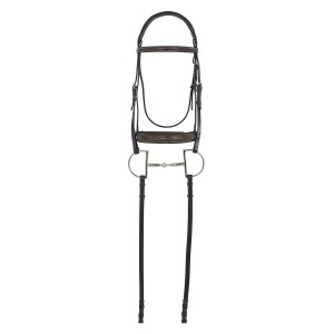 Camelot® Gold RCS™ Fancy Raised Wide Nose Padded Bridle with Reins