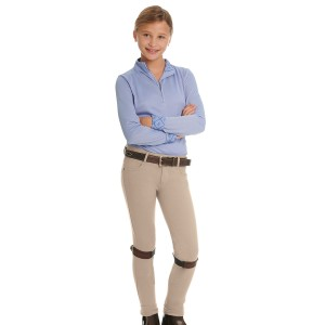 Ovation® Euro Melange X-Grip Knee Patch Jod- Child's