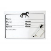 Horse Info Stall Plaque w- Dry Erase Pen