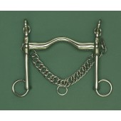 German Silver Weymouth Wide Port Bit w-Chain