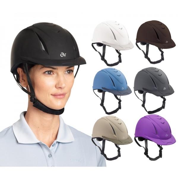 Medium//Large Ovation Kid/'s Metallic Schooler Riding Helmet Black