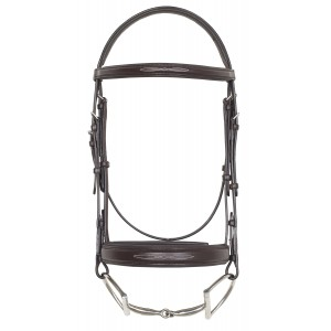 Camelot™ Fancy Stitched Wide Noseband Comfort Padded Snaffle Bridle