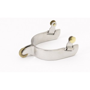 Stainless Steel Western Short Rnd Rwl Spurs