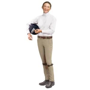 Ovation® EuroWeave™ Side-Zip Knee Patch Jods- Child's
