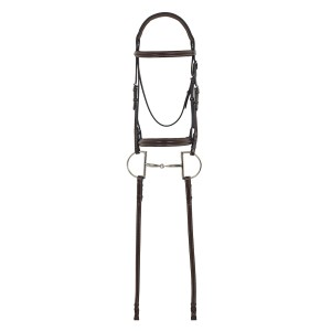 Camelot Gold™ RCS™ Plain Raised Padded Bridle with Reins