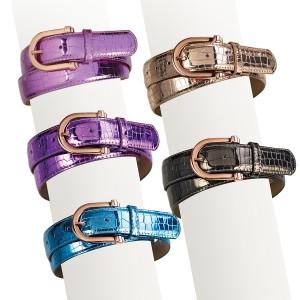 Ovation® Ladies' Rose Gold Buckle Metallic Belt