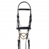 Aramas® Double Raised Padded Weymouth Dressage Bridle