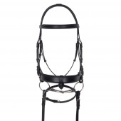 Aramas® Square Mild Raised Wide Dressage Bridle with Leather Reins
