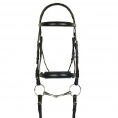 Aramas® Raised ZERO Shaped Padded Dressage Bridle with SureGrip Reins