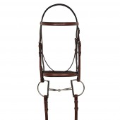 HK Americana Fancy Square Raised Bridle with Fancy Raised Lace Reins
